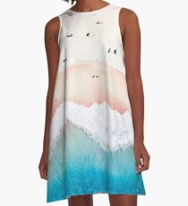 Aerial Sandy Beach A-Line Dress