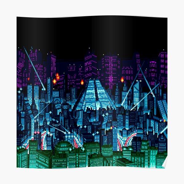 Neo Kobe Skyline (Snatcher, CD SEGA) Poster