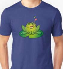 Froggy Catching Dinner Slim Fit T-Shirt