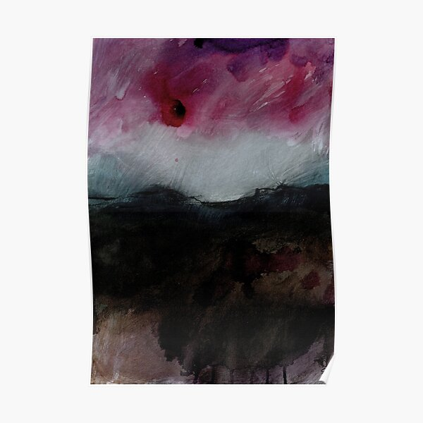 Storm Over the Dark Peak I - Peak District Landscape, Derbyshire art Poster
