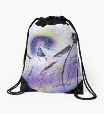 Earth angel girl Drawstring Bag