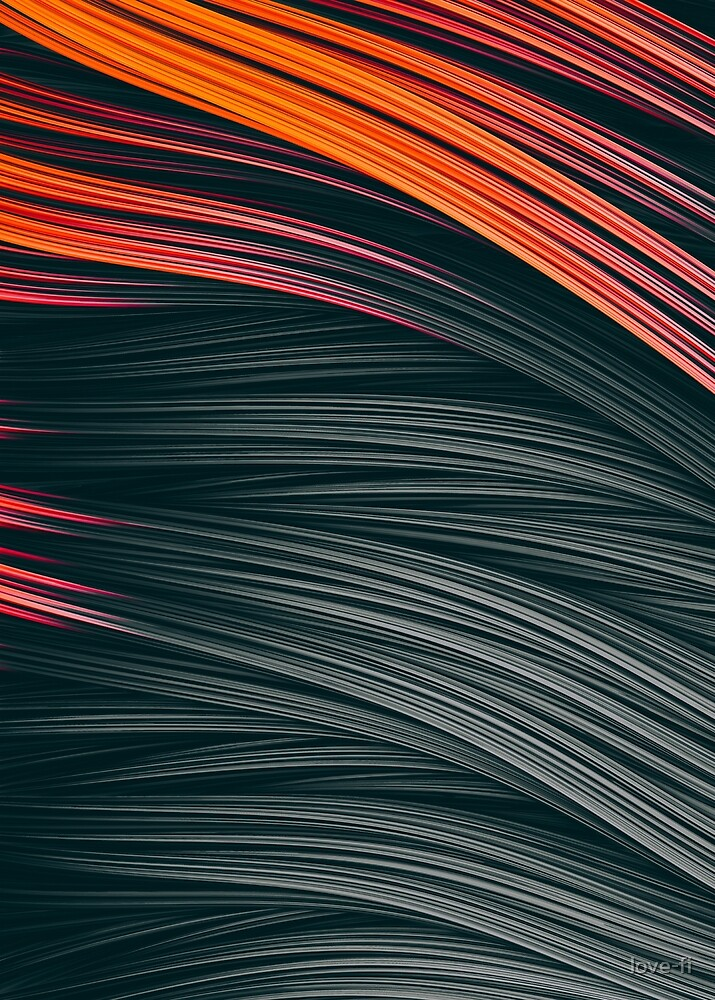 Ember Strands. Abstract Art by love-fi