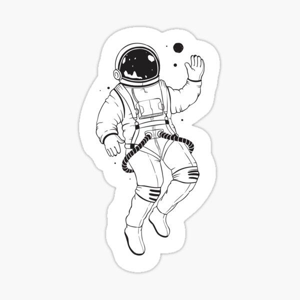 Cute Spaceman Astronaut Sticker  Sticker