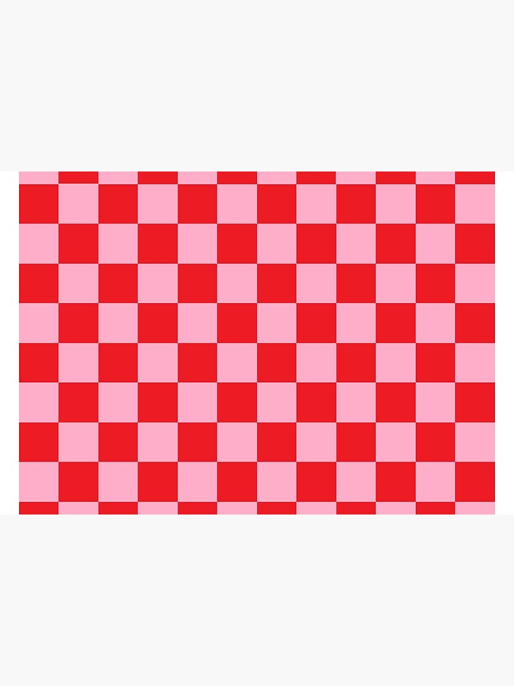 Checkered Pink and Red by lornakay