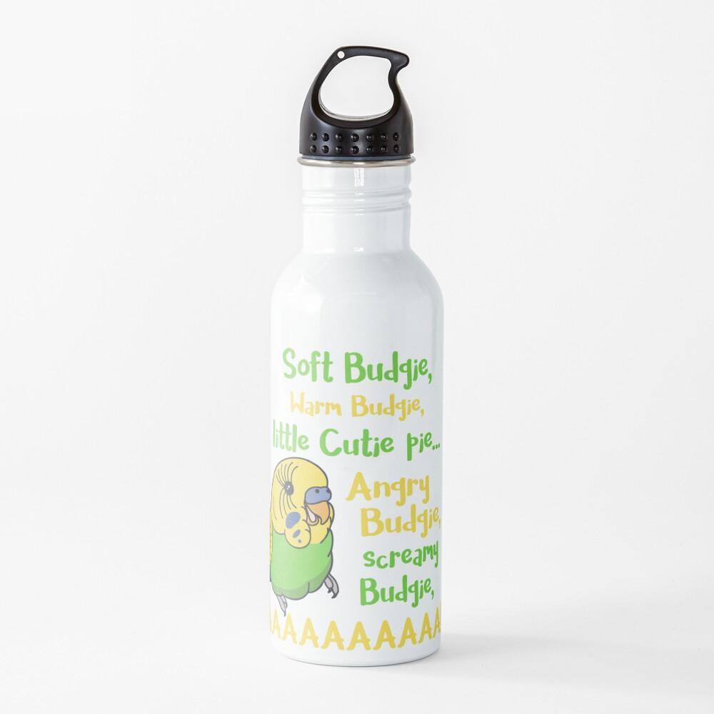 angry budgie, screamy budgie, AAAAAAAAAAAAAAA Water Bottle