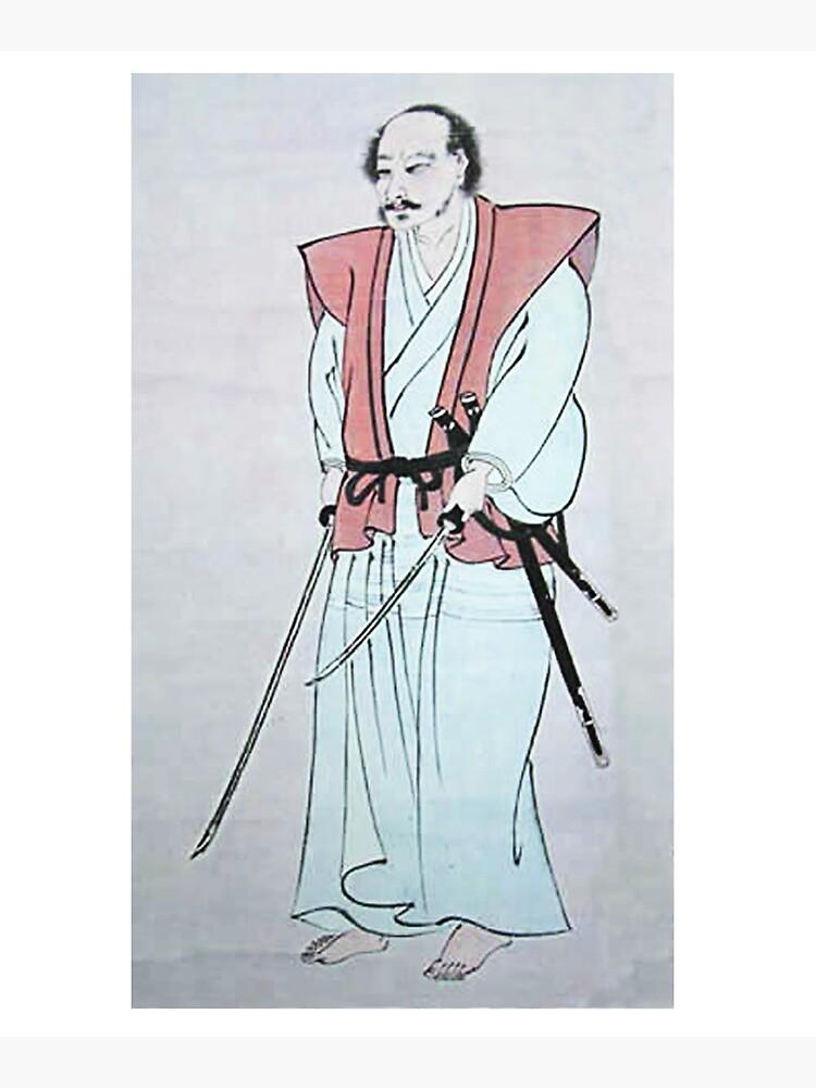 MUSASHI. Miyamoto Musashi, Self-portrait, Samurai, writer and artist, c. 1640. by TOMSREDBUBBLE