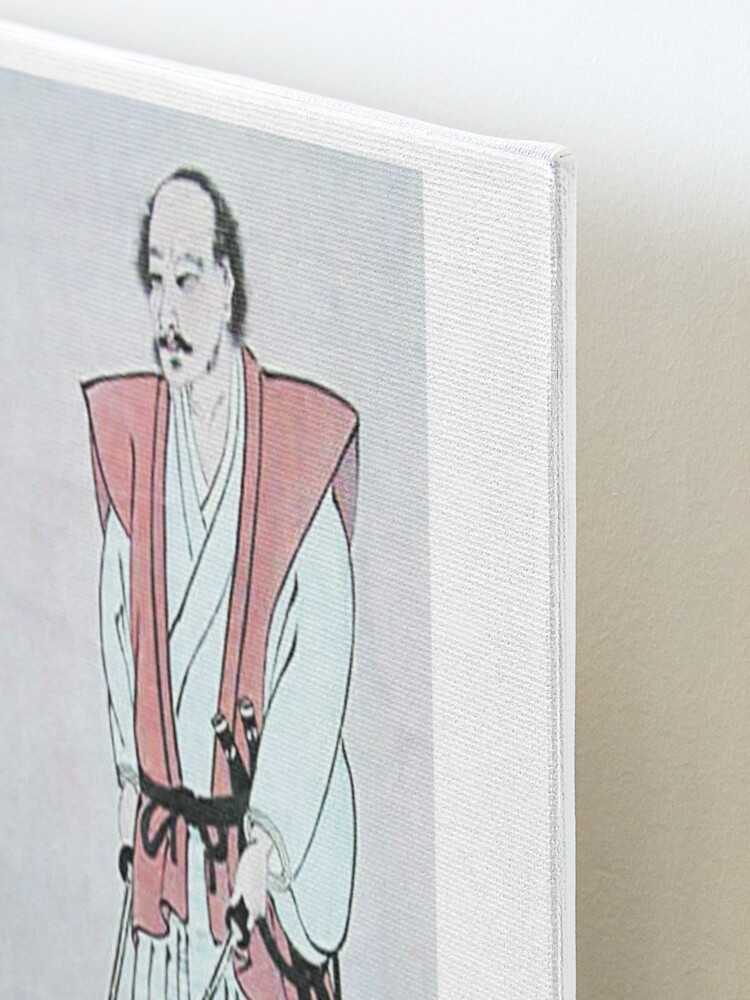 Alternate view of MUSASHI. Miyamoto Musashi, Self-portrait, Samurai, writer and artist, c. 1640. Mounted Print