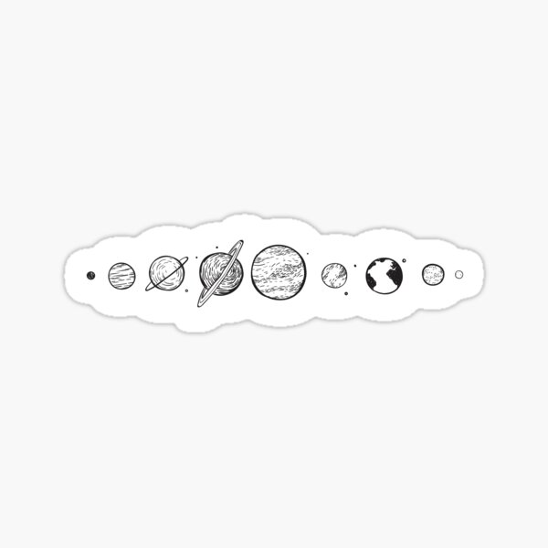 Planet and Solar System Stickers  Sticker