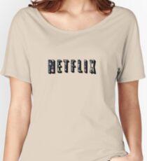 Floral Netflix  Women's Relaxed Fit T-Shirt
