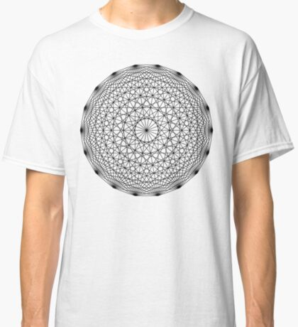 Dynamic Circle Chords II Black Classic T-Shirt
