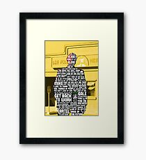 Gus Fring Quotes Framed Print