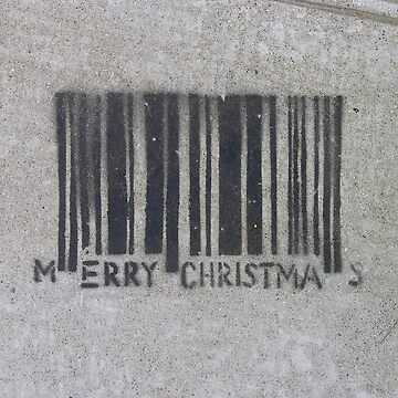 Merry Christmas Barcode (stencil graffiti) by alexiares
