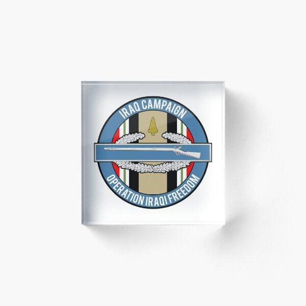 Iraqi Freedom CIB Arrowhead Acrylic Block