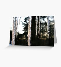 Icicles in Sunlight Greeting Card