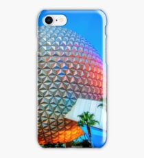 Spaceship Earth at Dusk iPhone Case/Skin
