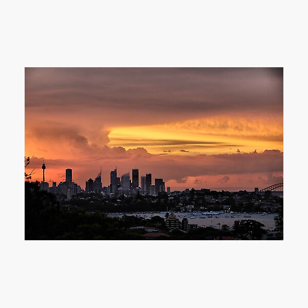 Caramel sky Photographic Print