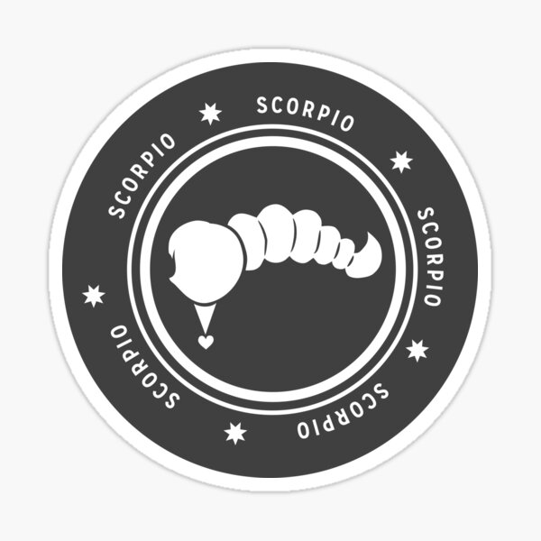 Scorpio - Dark Sticker