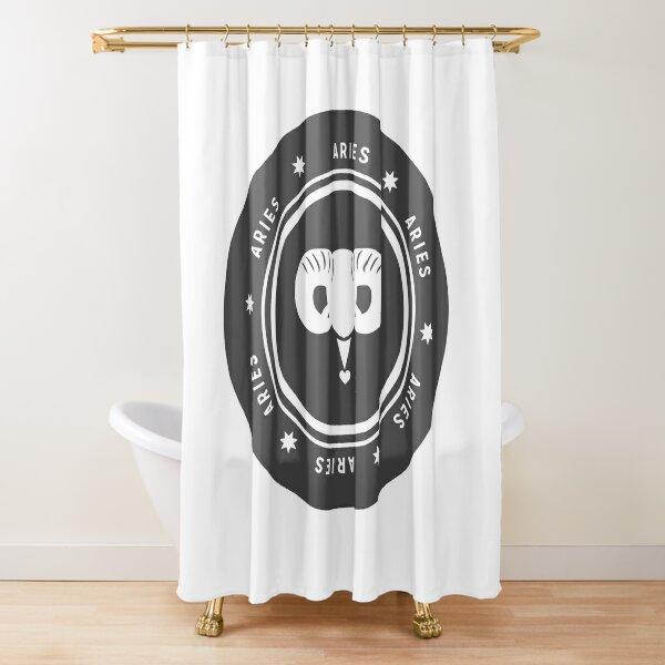 Aries - Dark Shower Curtain