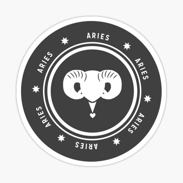 Aries - Dark Sticker