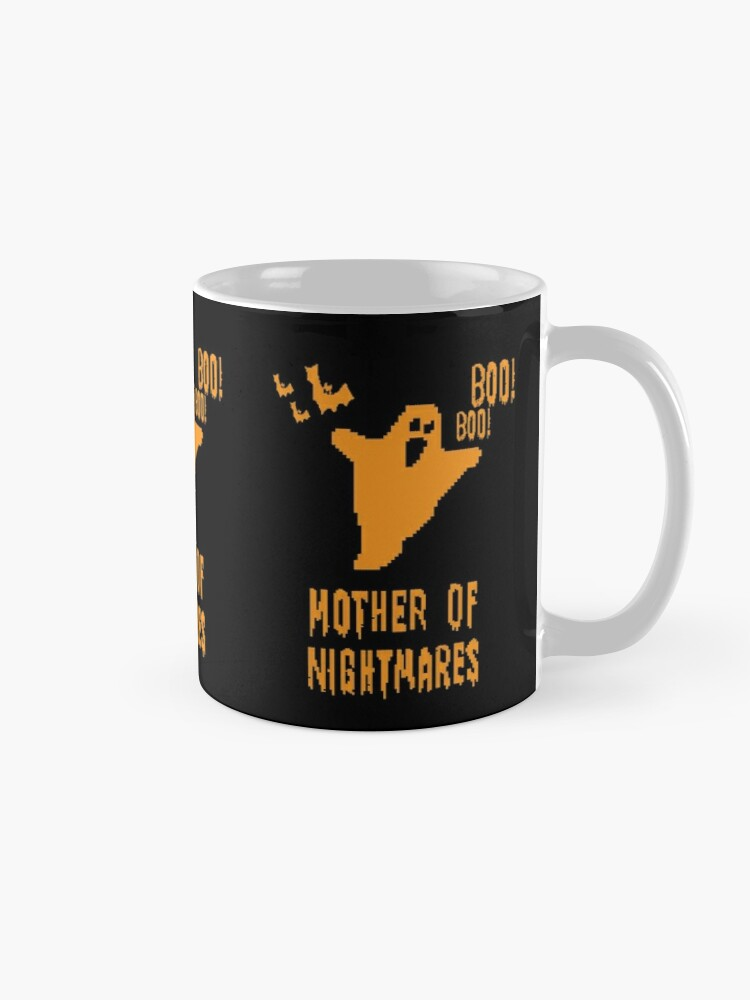 Alternate view of Mother of Nightmares Spooky Halloween Scary Bat Scene.  Mug