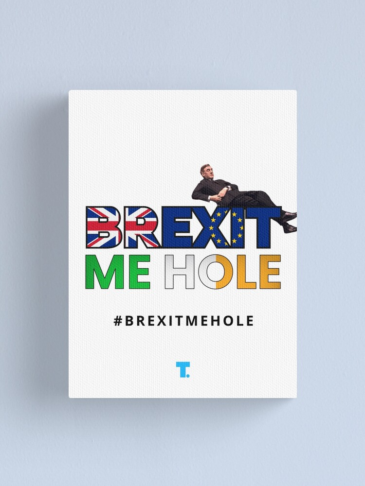 Alternate view of Trendster #BrexitMeHole Artwork Canvas Print
