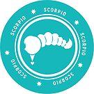 Scorpio - Teal by kylacovert