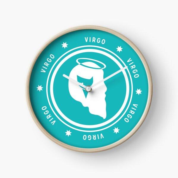 Virgo - Teal Clock