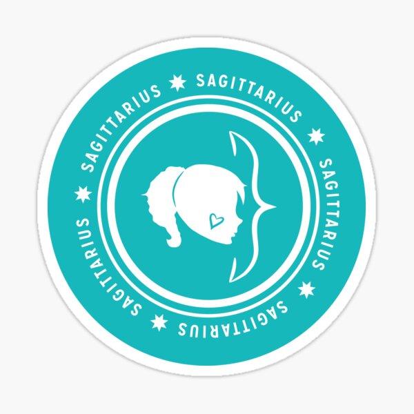 Sagittarius - Teal Sticker