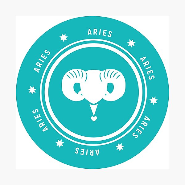 Aries - Teal Photographic Print