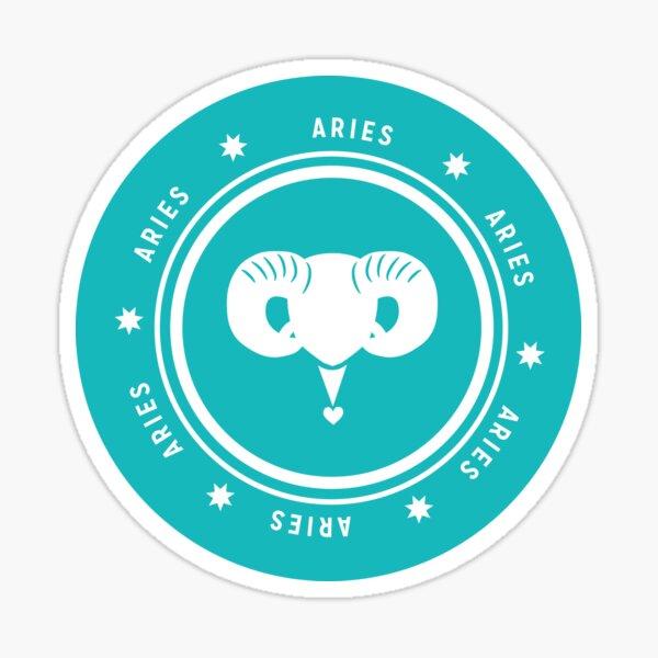 Aries - Teal Sticker