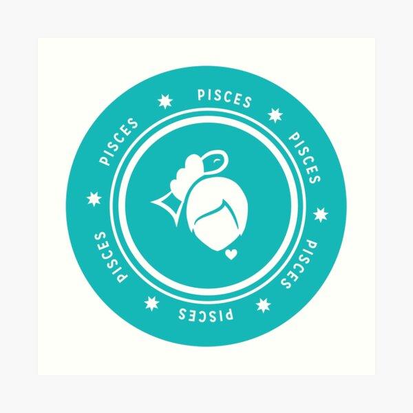 Pisces - Teal Art Print