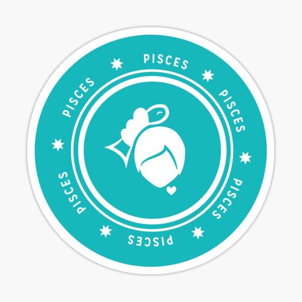 Pisces - Teal Sticker