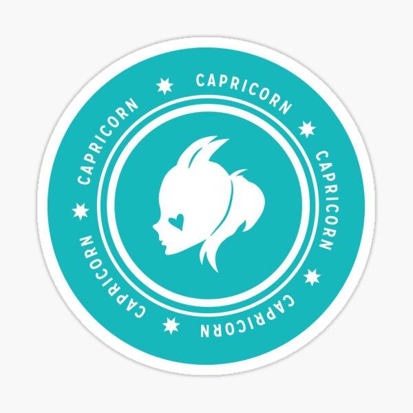Capricorn - Teal Sticker