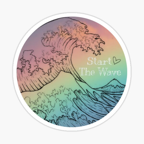 Start The Wave- rainbow wave Sticker