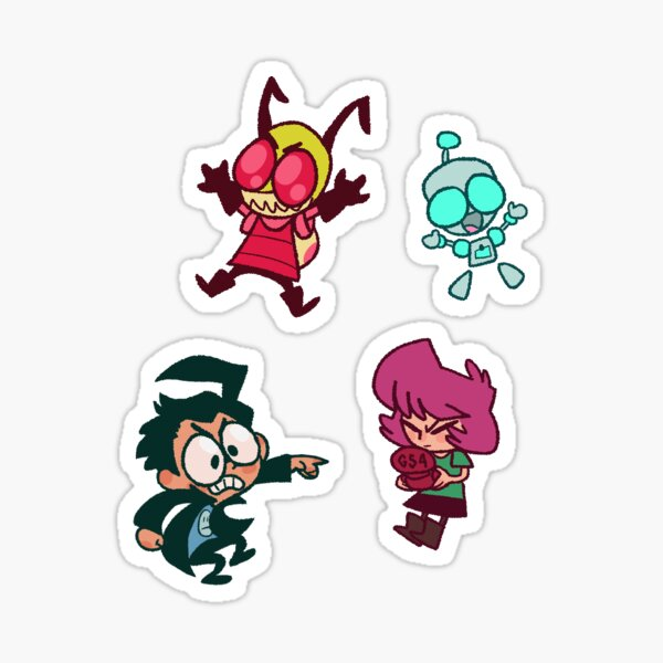 Invader ZIM Family Set!! Sticker