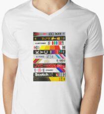 Camiseta para hombre de cuello en v VHS