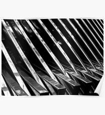 Chrome Ribbed - By. Jonny McKinnon Poster