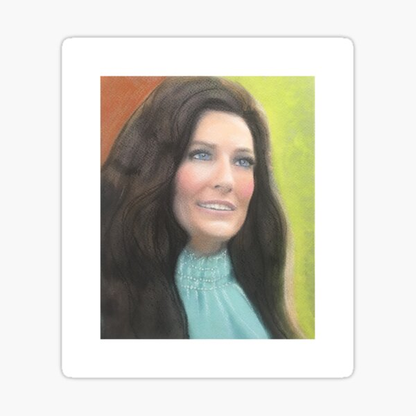 Loretta Lynn Portrait Sticker