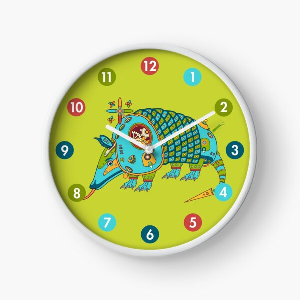 Armadillo, from the AlphaPod collection Clock