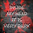 Inside my head it is very dark by Scott Mitchell