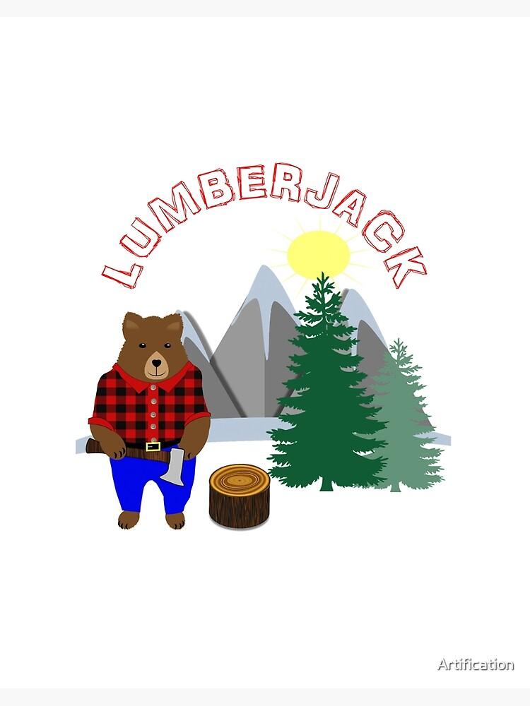Lumberjack and woodland friends coaster