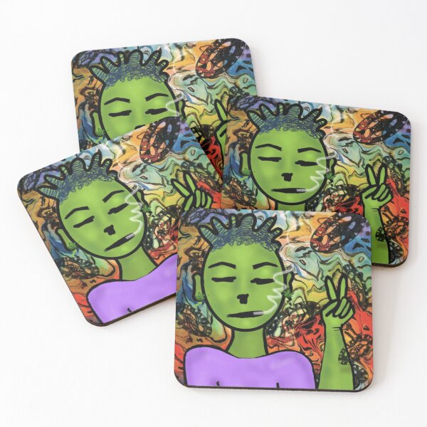 Hippie Jax Coasters (Set of 4)
