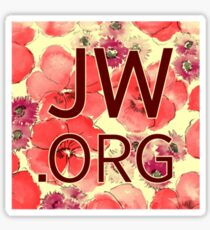 JW.org (red and peach flowers) Sticker