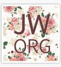JW.org (peach rose and pink) Sticker
