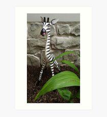 The Zebra of the House Art Print