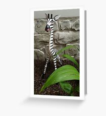 The Zebra of the House Greeting Card