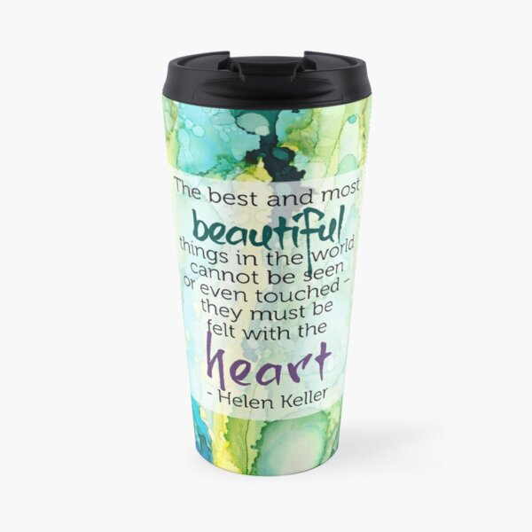 Inspirational Quote - Alcohol Ink Travel Mug