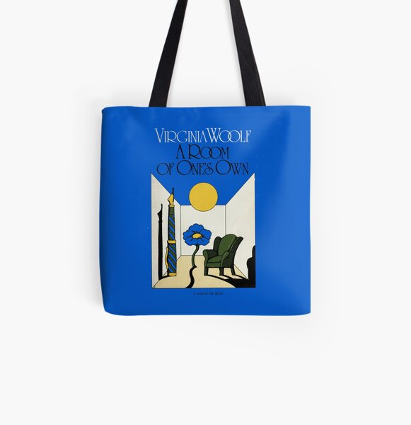 HIGH RESOLUTION A Room of One's Own Virginia Woolf Vintage Book Cover All Over Print Tote Bag