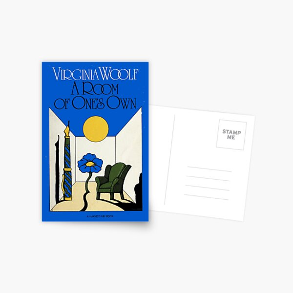 HIGH RESOLUTION A Room of One's Own Virginia Woolf Vintage Book Cover Postcard