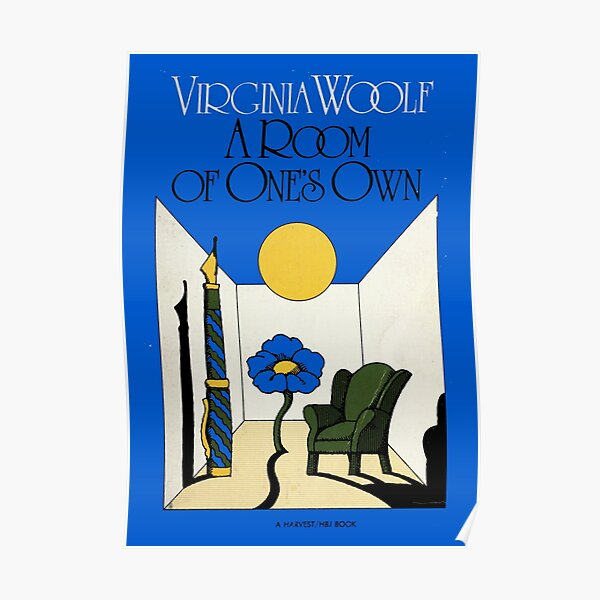 HIGH RESOLUTION A Room of One's Own Virginia Woolf Vintage Book Cover Poster